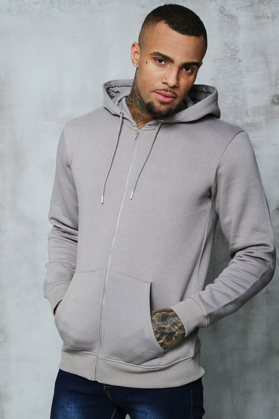 Original MAN Zip Through Hoodie