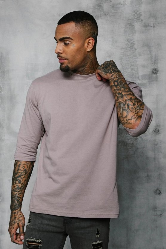 Loose Fit 3/4 Sleeve T-Shirt
