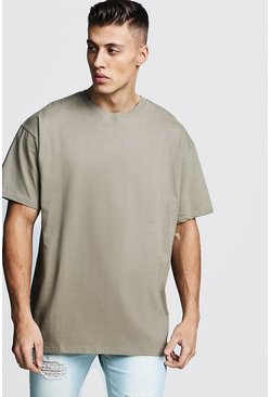 Sage silver Oversized Crew Neck T-Shirt