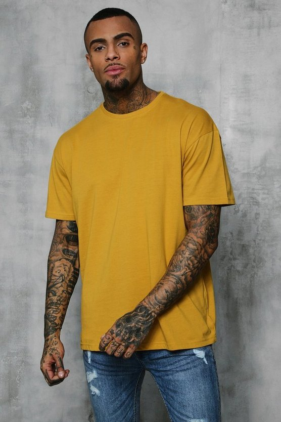 Oversized Crew Neck T-Shirt, Uomo
