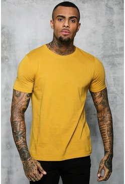 Mens Honey Basic Crew Neck T Shirt