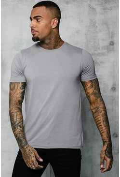 Mens Ash Basic Crew Neck T Shirt