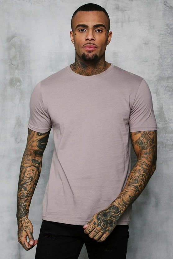 Mens Bark Basic Crew Neck T Shirt