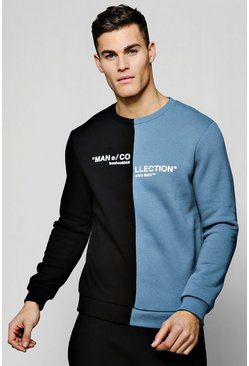 MAN Collection Spiced Sweater, Light slate, Uomo