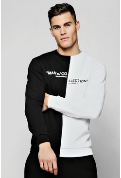 Mens White MAN Collection Spiced Sweater