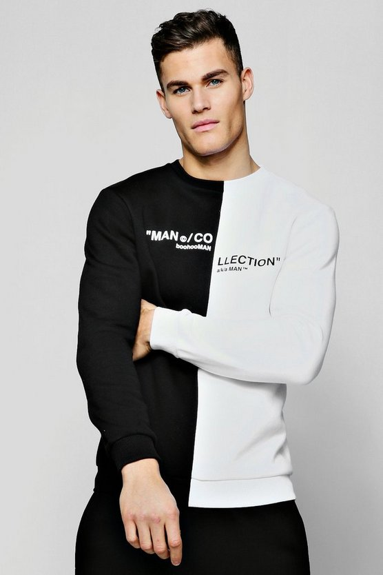 "Pullover mit geteilter ""MAN Collection""-Box, Weiß, Herren"