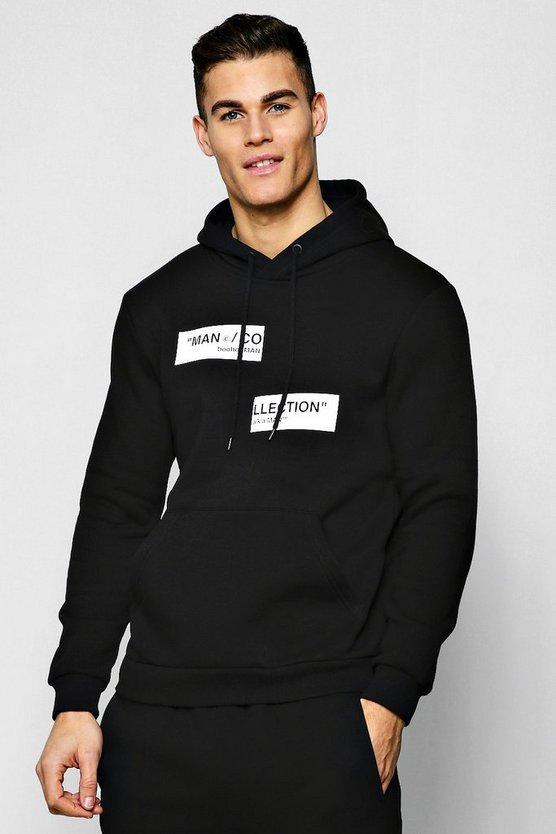 MAN Collection Spliced Box Hoodie