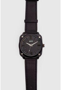 Mens All Black MAN Watch