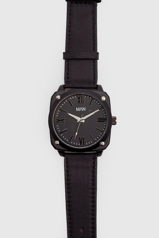 Mens Black All Black MAN Watch