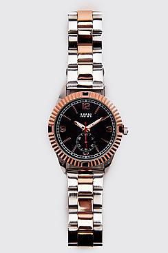 Metal Link Strap Watch