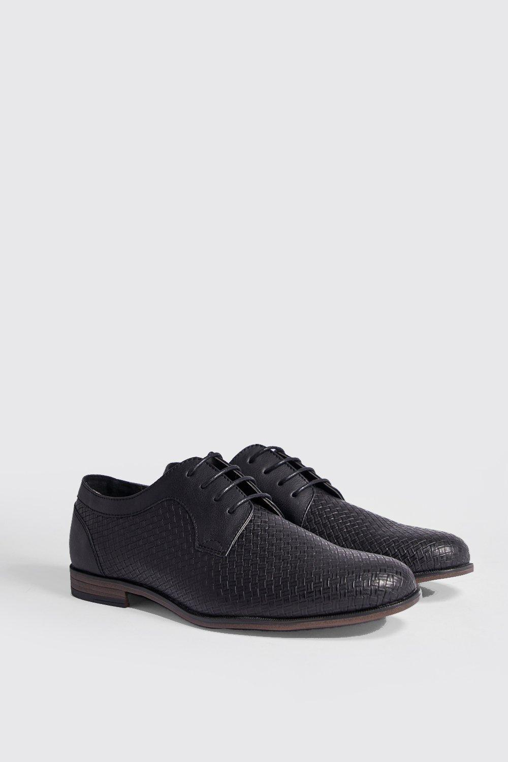 Faux Leather Embossed Smart Shoe