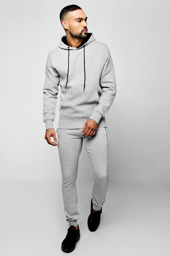 Hooded Tracksuit With Biker Panels