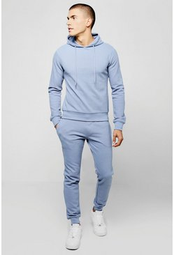 Mens Pique Hooded Tracksuit