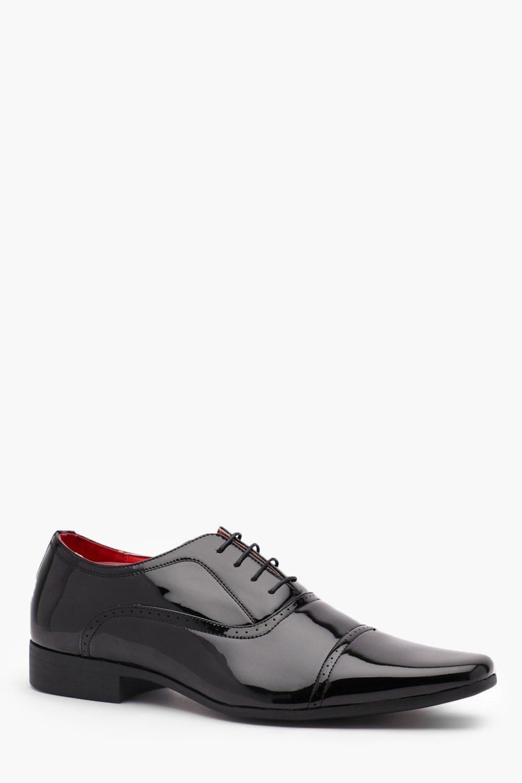 Patent Faux Leather Smart Shoe