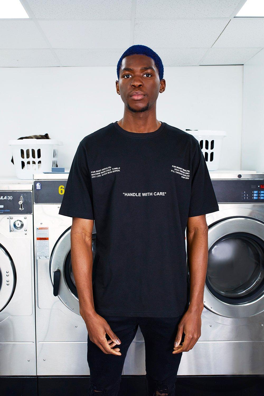 MAN Care Label Front & Back Print T-Shirt