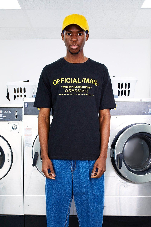 MAN Care Label Instructions Print T-Shirt