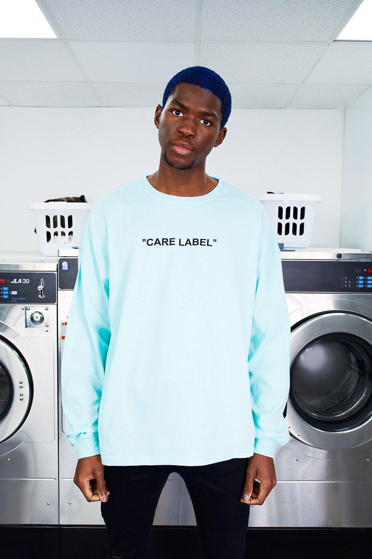 MAN Care Label Back Print Oversized T-Shirt