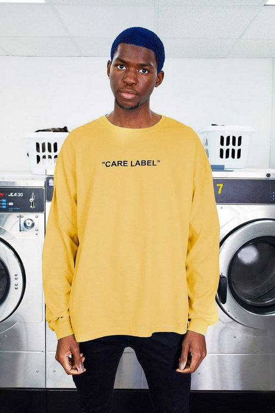 MAN Care Label Back Print Oversized T-Shirt