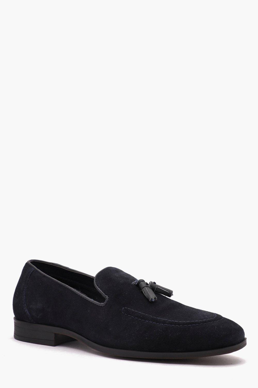 Real Suede Tassel Detail Loafer