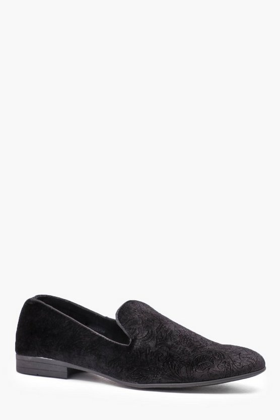 Velvet Embossed Loafer