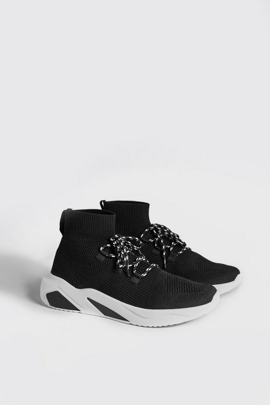Chunky Sole Knitted Sock Trainer