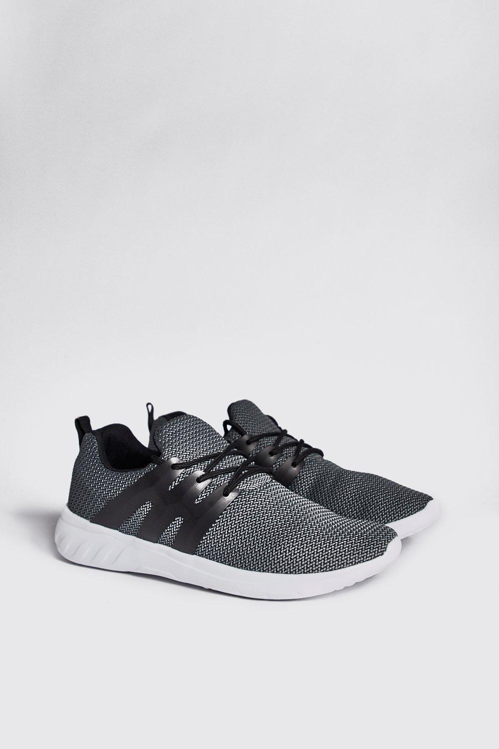 Two Tone Knitted Running Trainer