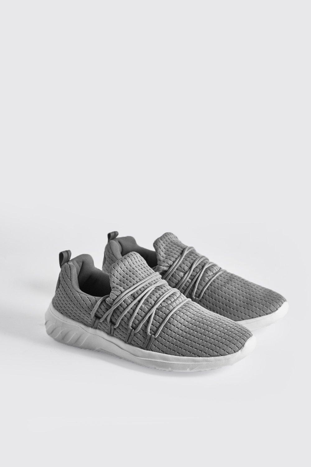 Interlace Knitted Trainer With Reflective Tape