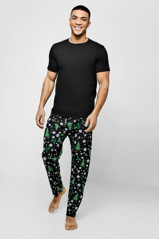 Christmas Tree Print Pyjama Set