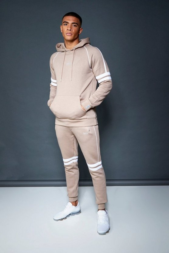 Skinny Fit Hooded Fleece Tracksuit