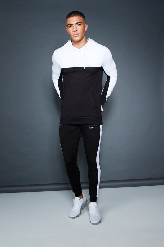 Muscle Fit OTH Hooded Colour Block Tracksuit