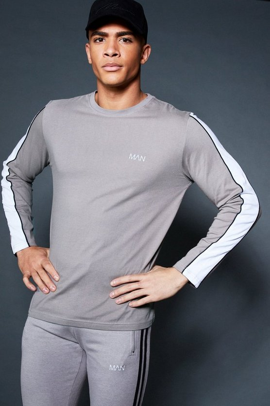 Long Sleeve T-Shirt With Sleeve Tape