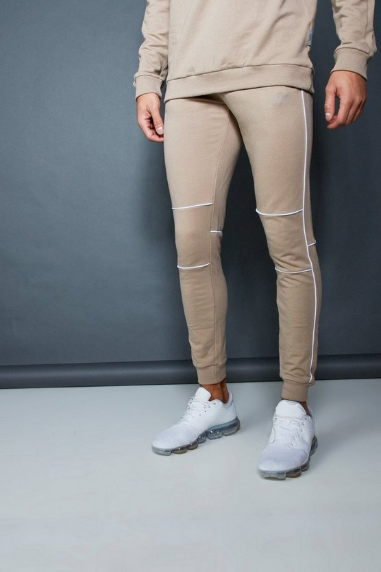 Muscle Fit Jogger With Piping Detail