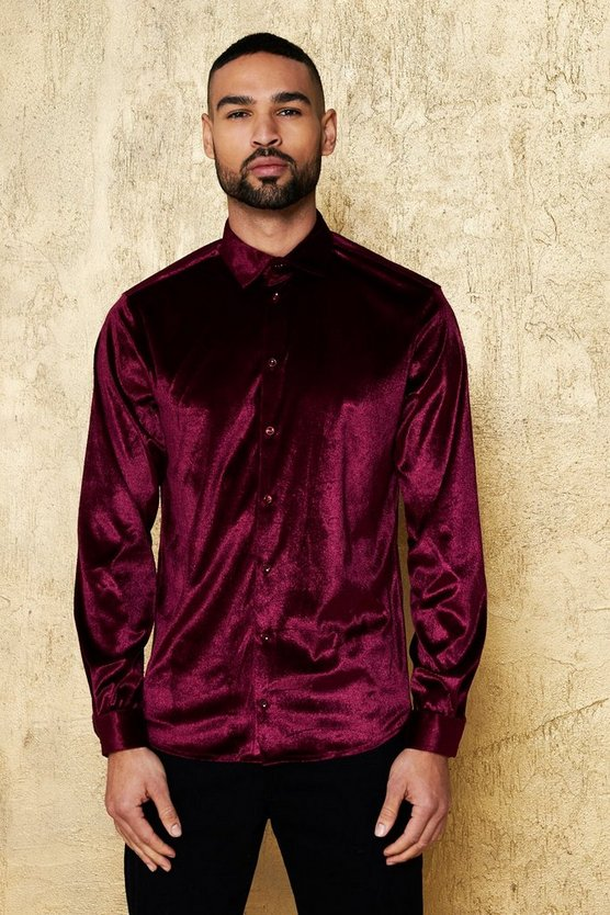 Long Sleeve Velour Shirt
