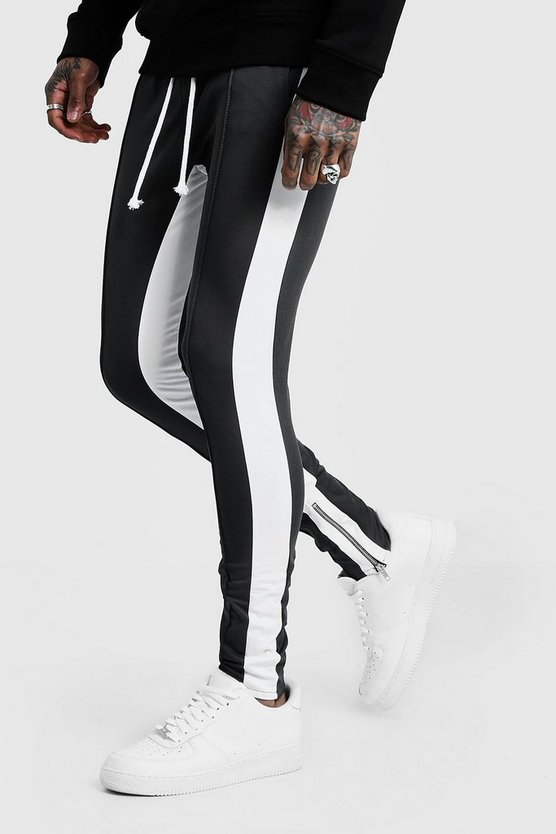 Tricot Skinny Joggers With Side Panel