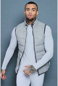 Mens Grey Active Padded Shell Gilet