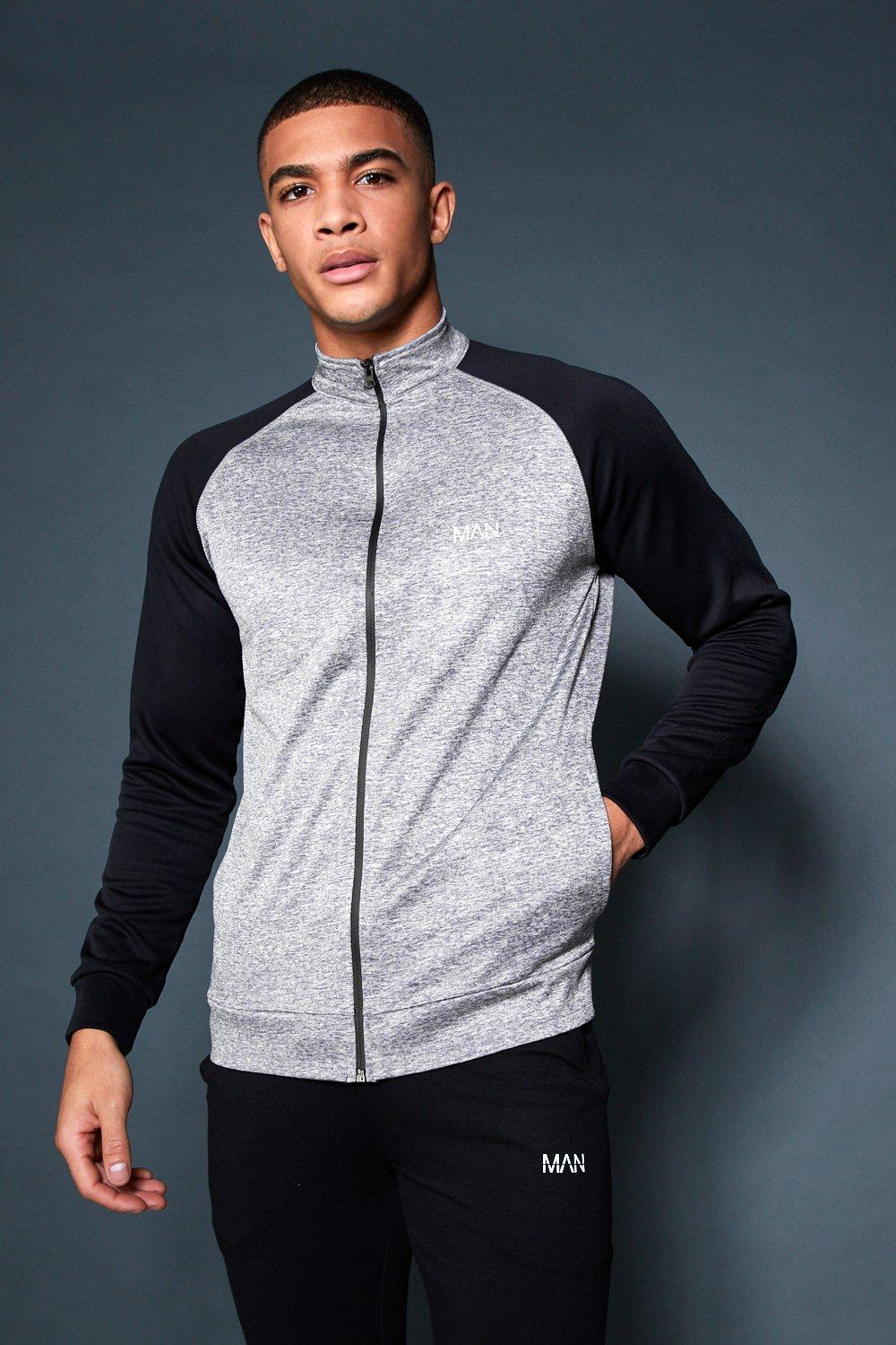 Active Gym Track Top With Contrast Sleeve
