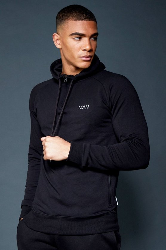 Active Over The Head 1/4 Zip Raglan Hoodie