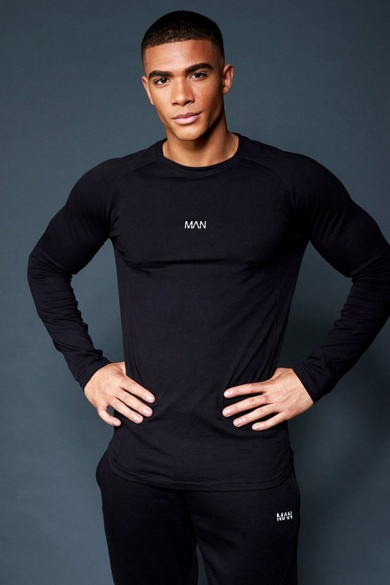 Active Raglan Long Sleeve Gym T-Shirt