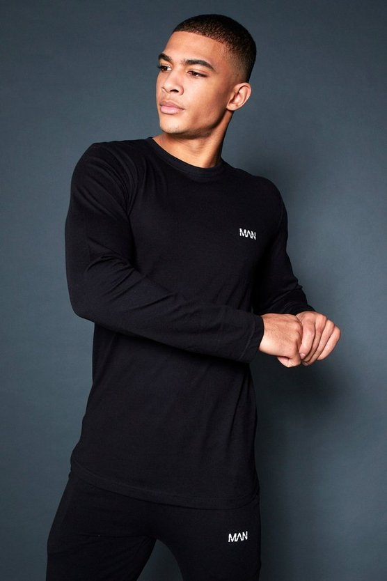 Active Long Sleeve Curved Hem Gym T-Shirt
