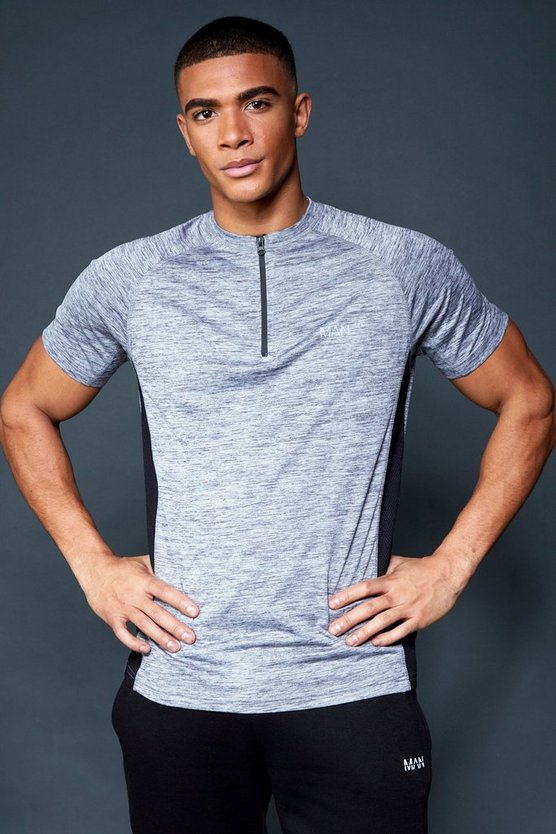 Active Gym Raglan T-Shirt With 1/4 Zip Neck