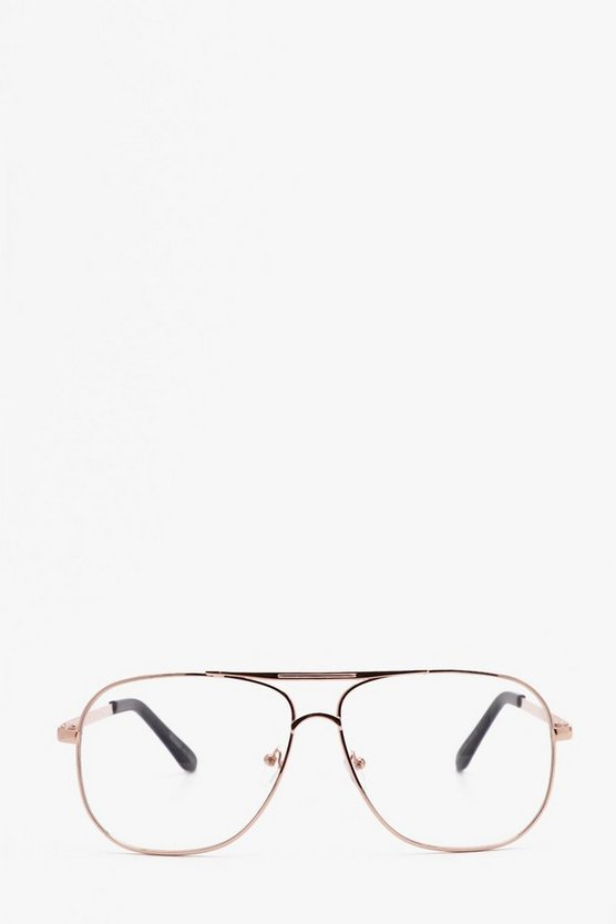 Clear Lens Square Aviator