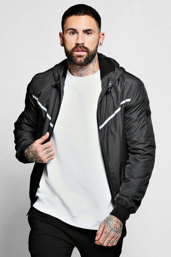Hooded Jacket With Reflective Panels