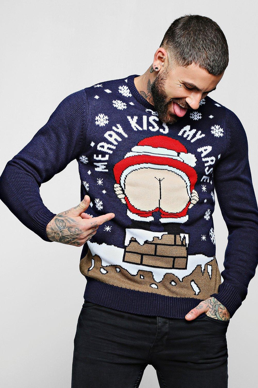 Christmas Jumpers.Rude Novelty Christmas Jumper Boohoo