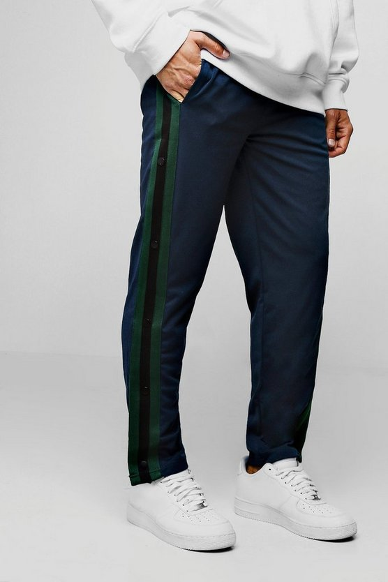 Slim Fit Popper Tricot Joggers