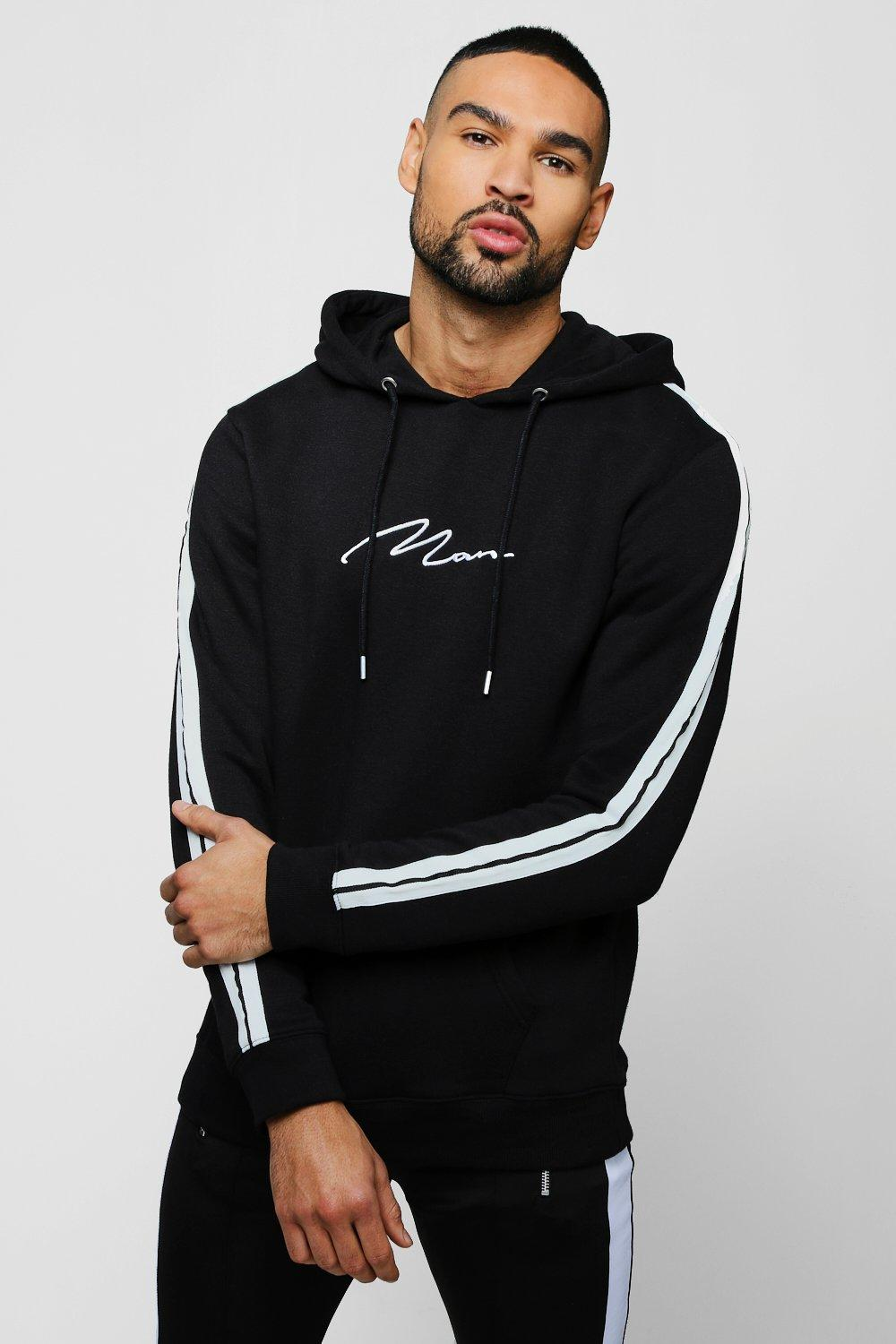 MAN Signature Hoodie With Contrast Tape