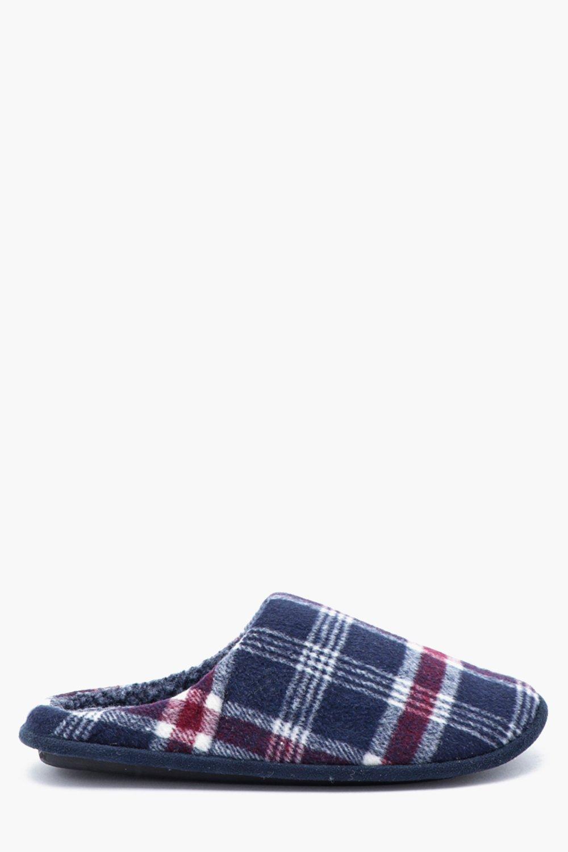 Checked Fleece Lined Slipper
