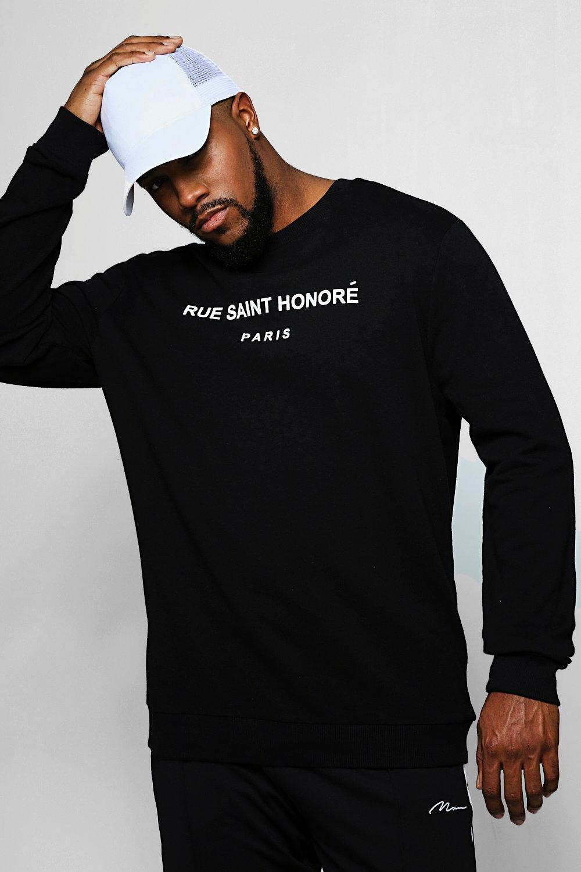 Big And Tall Slogan Crew Neck Sweater