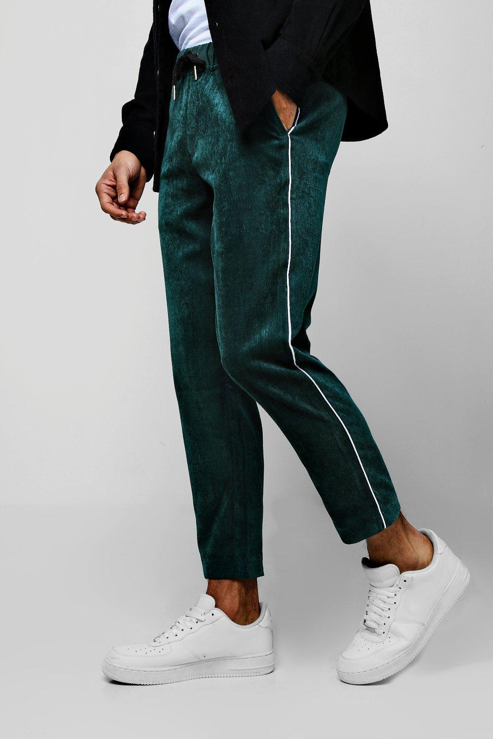 Cord Jogger Trouser With Side Piping