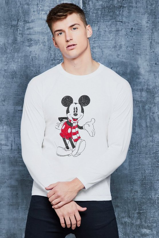 Disney Christmas Front & Back Print Long Sleeve Tee