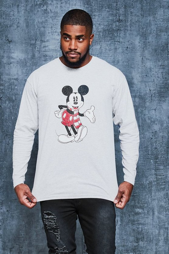 Big And Tall Disney Christmas Print Tee